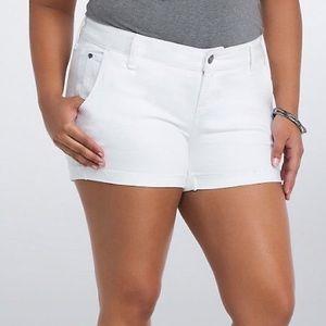 Torrid White Wash Shorts